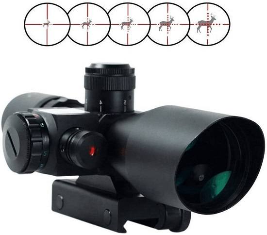 Freehawk® 2.5-10x40 Tactical/Optics Accessories/ Rifle Scope/Gun Scope/Gun sights Red & Green Laser