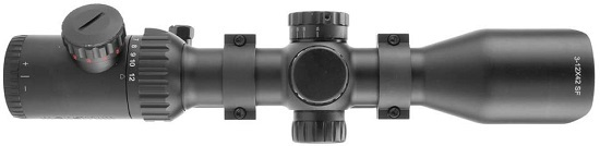 Monstrum Tactical 3-12x42 AO Rifle Scope with Illuminated Mil-Dot Reticle and Offset Reversible Scope