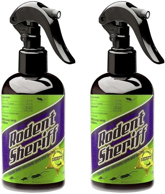 Rodent Sheriff Pest Control - Ultra-Pure Peppermint Spray - Repels Mice, Raccoons, Ants, and More